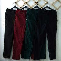 6XL 5XL 105KG waist 130cm hip 145cm 130cm Plus size spring skinny pencil pants casual BLACK GREEN BLUE RED
