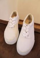 Ais women's shoes canvas shoes hand-painted shoes lovers shoes lacing falts plus size male