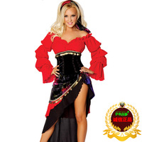 Sexy Costume Uniform halloween clothes red festive Latin dance belly dance dance costume ds  Free Shipping