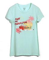 Fashion urban beach single fresh family fashion cartoon print top t-shirt