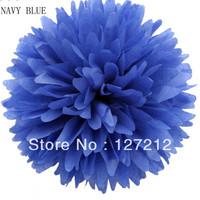 8inch Tissue Paper Pom Poms Flower Wedding Decoration 10pcs/lot Navy Blue