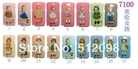 Wholesale Beautiful British girl Paper doll mate Skin Case Cover for Samsung Galaxy Note 2 II N7100