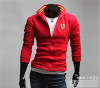 Free Shipping Latest New Fashion Embroidery Sports Collar Jackets Long Sleeve Printing Coat Men's Casual Jersey Outerwear