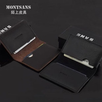 freeshipping Men Small card holder ultra-thin genuine leather wallet Card & ID Holders casual business card bag