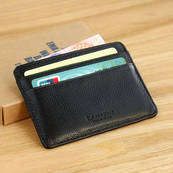 Male small card holder men's cowhide ultra-thin coin purse small wallet bank card holder genuine leather card case testificate(China (Mainland))