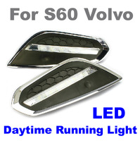 Top Quality ! S60 Volvo Daytime Running Lights LED Daytime Daylight DRL Auto Car DRL Fog Lamp Free Shipping Via HongKong Post
