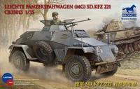 Bronco 35013 1/35 scale LEICHTE PANZERSPAHWAGEN (MG) SD.KFZ 221 plastic model kit