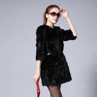 Fashion free shipping! new style coat rabbit fur rabbit sweater  short medium-long women rex rabbit hair  rabbit fur fabric