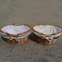 Ellipse  Rattan straw Basket