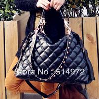 Best Selling!!2013 new fashion women plaid handbag ladies vintage leather bags wrinkle shoulder bag Free Shipping