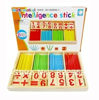 1 pcs Teach beginners the mathematical intelligence stick game wooden learning math toys Full digital game wooden box