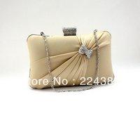 Popular Silk Elegant Noble Dinner Ladies' Bag , Evening Bag High-grade Handbag Free Shipping 2013 Wholesale Price Retail EB006