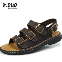 Freeshipping!!!Male sandals leather sandals ultralarge cowhide genuine leather sandals fashion sandals personality