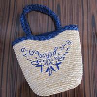 Free Shipping 2013 Hot Sale fresh one shoulder handbag straw bag rattan bag beach bag woven bag women's handbag High Quality