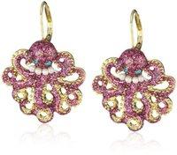 2014 new fashion Over 15 $ Free shipping Fashion bj octopods earrings 120814 long earrings gold earrings drop earrings