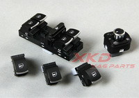 5Pcs Set Of OEM Chrome European Master Window Mirror Konb Switch For VW Jetta 5 6 Golf 5 6 Mk5 Mk6 Passat B6 Tiguan