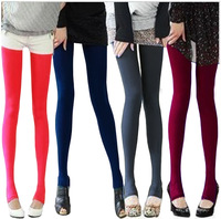 Women's warm socks pants plus size plus velvet legging socks ankle length trousers boot cut jeans