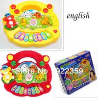 1 Pc Baby Kid's Popular Animal Farm Piano Music Toy Electric Keyboard ENGLISH Lanugage Educational PianoToy Xmas gift