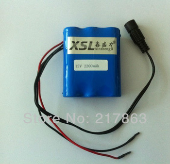 Portable 12V Li-ion Super Rechargeable Battery Pack DC for CCTV Camera 2200mAh