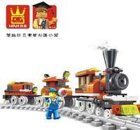 Free Shipping build block sets enlighten train set 185pcs constructs toys educational toys children toy enlighten train