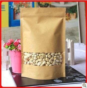 Kraft Paper Biscuit Bag Size 160x220 Stand Up Pouch Ziplock Bag  Food Grade