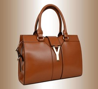 2013 fashion brand quality  Y disigner women's cowhhide Genuine Leather Handbag Tote Bags purse for women, wholesale, S8580