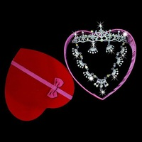 Wedding dress baihuo boxed heart necklace set the bride wedding dress alloy necklace