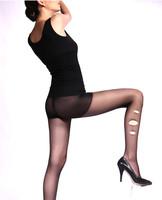 Free shipping 2 pcs LANGSHA ultra-thin velvet at random women's antidepilation plus crotch pantyhose stockings