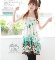 Korean version of Ms. wrapped chest dress Chiffon Women Dress free shipping