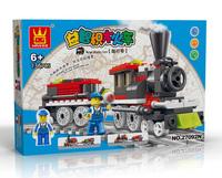 Free Shipping building blocks enlighten train 136pcs educational toys children toy gift enlighten train series child set