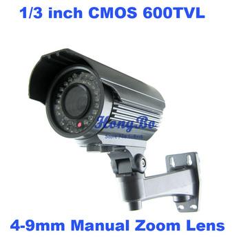 "Guaranteed 100%  security camera 1/3 ""CMOS 600TVLine  Varifocal lens4-9mm  CCTV Camera"