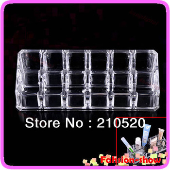 New Clear Square Cosmetic Organizer Makeup Drawers 12 Grids Lipstick Display Rack Cabinet Case Holder