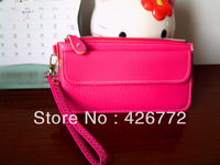 Fashion Candy Colors Simple design hot sale Ladies' PU Hand bag, women's wallet