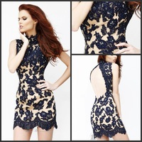 New Arrival 2013 Custom Made Cheap Sheath Sexy Mini appliques beaded high sexy  Attractive Cocktail Dress