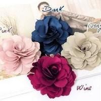 Min. order $9 Flower hairpin brooch hair accessory headband hair rope brooch TS064