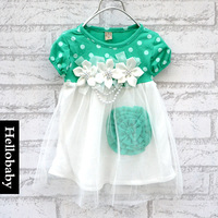 2013 Free Shipping NEW 4pcs/lot Children's clothing baby girls flower dress kids wear princess tutu dress GG001