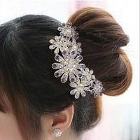 Min. order $9  luxury rhinestone diamond insert comb hair maker diamond comb hairpin hair accessory TS081