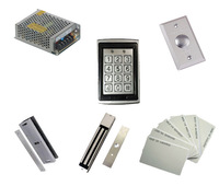 Free shipping by DHL,access control kit ,waterproof access control+power+magnetic  Lock+U- bracket +button+10 EM cards,sn:EM-T05