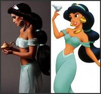 Anime Aladdin Jasmine Long Black Wig Customized Classical Character Cosplay Wig