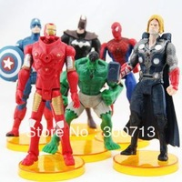 "The Avengers Marvel Hero Captain Iron Man the Hulk 7"" Action Figure Doll Toys Movie Carton hot 6 piece/lot"
