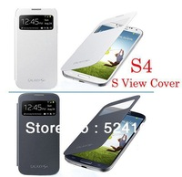 1:1 top high quality,for samsung galaxy s4 i9500 s view cover, with retail packing,30pcs/lot,DHL free shipping