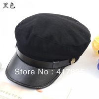 Free Shipping baseball cap sun-shading hat male women's summer sun hat casual  Vintage fur Navy cap