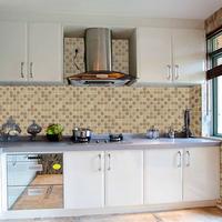 2014 Rushed Sale Modern Sticker Adesivo De Parede Decals Big House Mosaic Oil Paste Foil Kitchen Stickers Waterproof Tile 2d24e