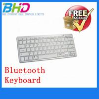 White Ultra-slim Wireless Bluetooth Keyboard Support Windows - Spain Free shipping