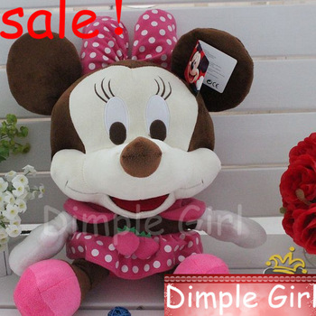 novelty red big size stuffed baby bed doll wedding plush toy minnie mouse room decor girl party decorations happy birthday gift
