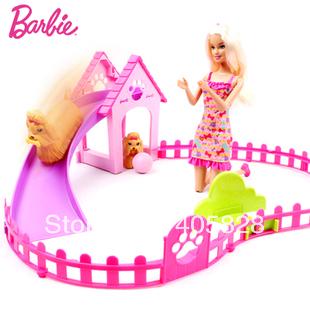 Барби щенка играть парк кукла &