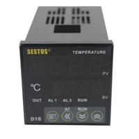 Sestos Dual Digital PID Temperature Controller 2 Omron Relay Output D1S-VR-220 + PT100 + 25DA SSR