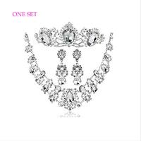 Fashion wedding hair Headband Korean nice headdress flower+necklace+Earring 3pcs/lot Wedding Accessories free shipping