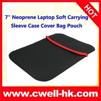 Freeshipping  7 inch Neoprene Laptop Soft Carrying Sleeve Case Cover Bag Pouch
