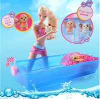 Barbie Family Doll Swim & Race Pups with Water Slide X8404 -  New & Boxed ORIGINAL BRAND  free shipping